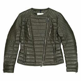 Green Leather Coat