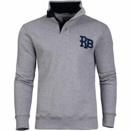 Raging Bull Big And Tall Rb Applique Button Up Sweat