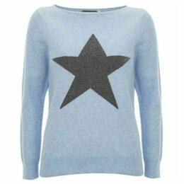 Mint Velvet Light Blue Star Front Knit