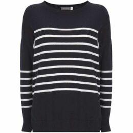 Mint Velvet Navy Stripe & Star Knit