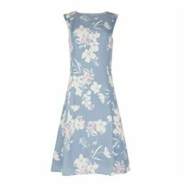 Osterley Floral Cupro Fit and Flare Dress