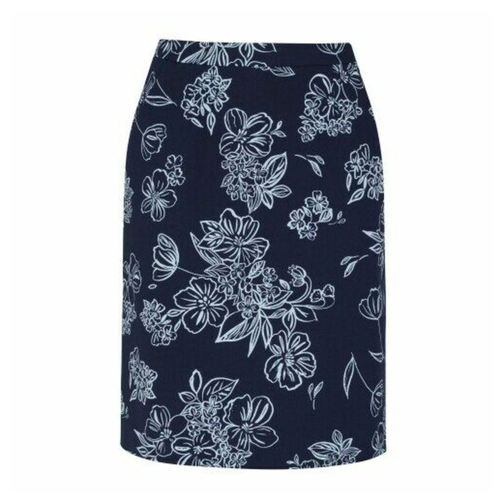 Knee Length ALine Osterley Linear Skirt