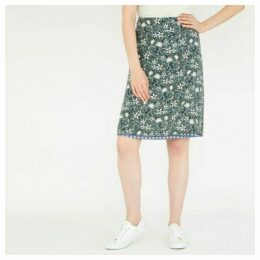 Reversible ALine Floral and Polka Dot Print Skirt