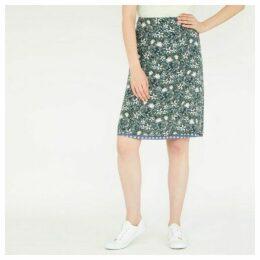 Reversible ALine Floral and Polka Dot Print Skirt