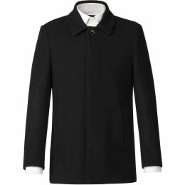Scott and Taylor Lincoln Black Melton Overcoat