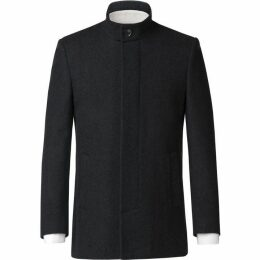 Scott and Taylor Morley Charcoal Melton Overcoat