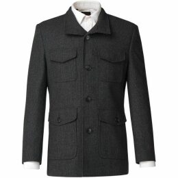 Limehaus Jaxon Charcoal Puppytooth Overcoat