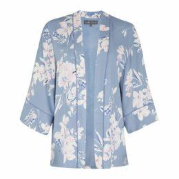 Osterley Floral Satin Back Crepe Soft Kimono