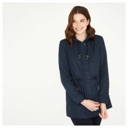 Navy Long Length Rain Coat