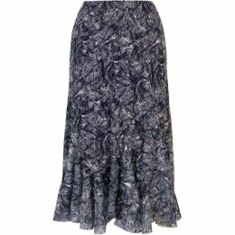 Chesca Printed Stretch Lace Curve Panel Skirt