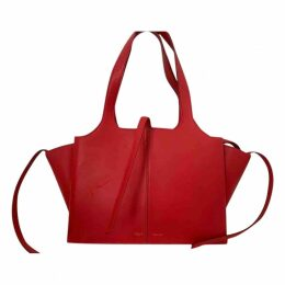 Tri-Fold leather handbag