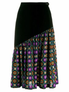 Yves Saint Laurent Pre-Owned 1970's floral gathered panel skirt -