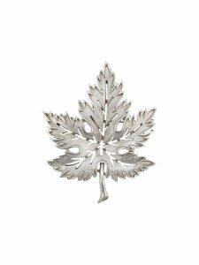 Susan Caplan Vintage 1960's Trifari Leaf brooch - Silver