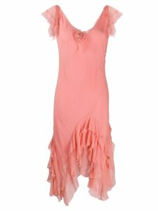 Christian Dior Pre-Owned ruffled pointy dress - Pink