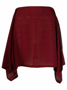 Jean Paul Gaultier Pre-Owned Plaid skirt - Red