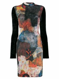 Jean Paul Gaultier Pre-Owned 1990's abstract print longsleeved dress -