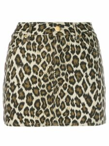 Jean Paul Gaultier Pre-Owned 1989 Cheetah Skirt - Neutrals