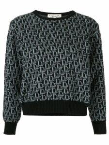 Christian Dior Pre-Owned Trotter pattern jumper - Black