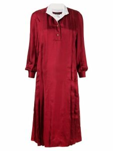 Chanel Pre-Owned long-sleeve midi dress - Red