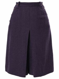Chanel Pre-Owned high-waisted short skirt - Purple