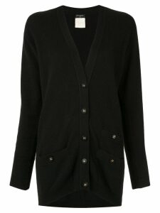 Chanel Pre-Owned knitted long-sleeved cardigan - Black