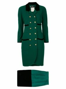 Chanel Pre-Owned CC button coat - Green