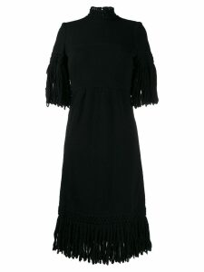 A.N.G.E.L.O. Vintage Cult 1960's fringed knitted dress - Black