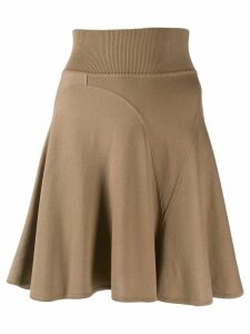 Alaïa Pre-Owned short godet skirt - Brown