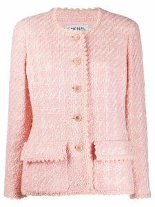 Chanel Pre-Owned 1990's slim tweed jacket - Pink