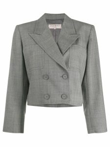 Yves Saint Laurent Pre-Owned 1980's cropped doublebreasted blazer -