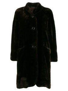Pierre Cardin Pre-Owned 1980's loose teddy bear coat - Brown