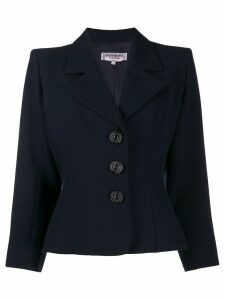 Yves Saint Laurent Pre-Owned 1980's slim blazer - Blue