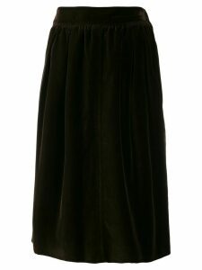 Yves Saint Laurent Pre-Owned 1970's velvet effect gathered skirt -