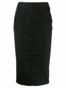 Gucci Pre-Owned 2000's denim pencil skirt - Black