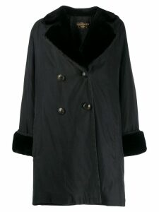 Yves Saint Laurent Pre-Owned 1980's loose doublebreasted coat - Black