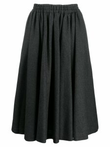 Valentino Pre-Owned 1990's gathered midi skirt - Grey