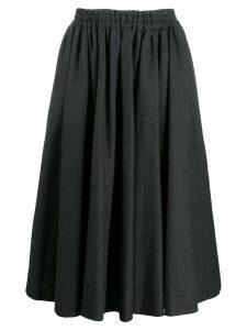 Valentino Pre-Owned 1990's gathered midi skirt - Grey