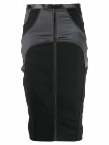 Gucci Pre-Owned 2000's panelled pencil skirt - Grey