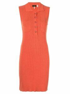 Fendi Pre-Owned Sleeveless Long One piece Dresses - Orange
