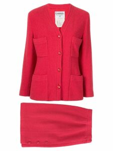 Chanel Pre-Owned Set Up Suit Jacket Skirt - Pink