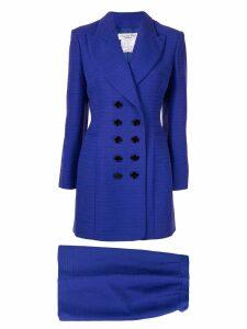 Christian Dior Pre-Owned Setup Jacket Skirt - Blue