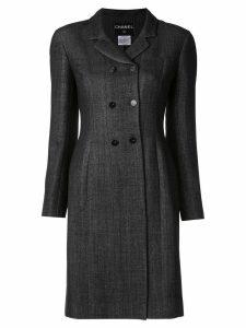 Chanel Pre-Owned Long Sleeve Jacket Coat - Grey
