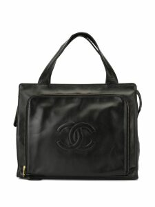 Chanel Pre-Owned stitched interlocking CC tote - Black