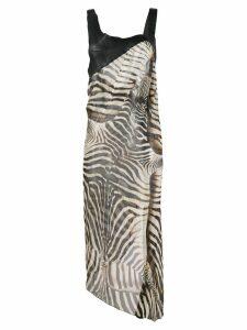 Jean Paul Gaultier Pre-Owned 2000's zebra print dress - Black
