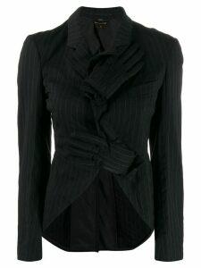 Comme Des Garçons Pre-Owned gloves appliqué longback blazer - Black