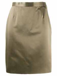 Yves Saint Laurent Pre-Owned 1980's straight skirt - Neutrals
