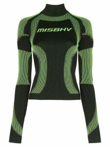 Misbhv high-neck sport knit top - Black