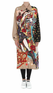 Dolce & Gabbana Super Heroine Print Trench