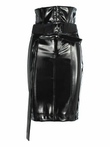 Unravel Latex Unbuttened Thight Skirt
