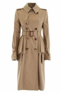 Alexander McQueen Long Peplum Trench Coat